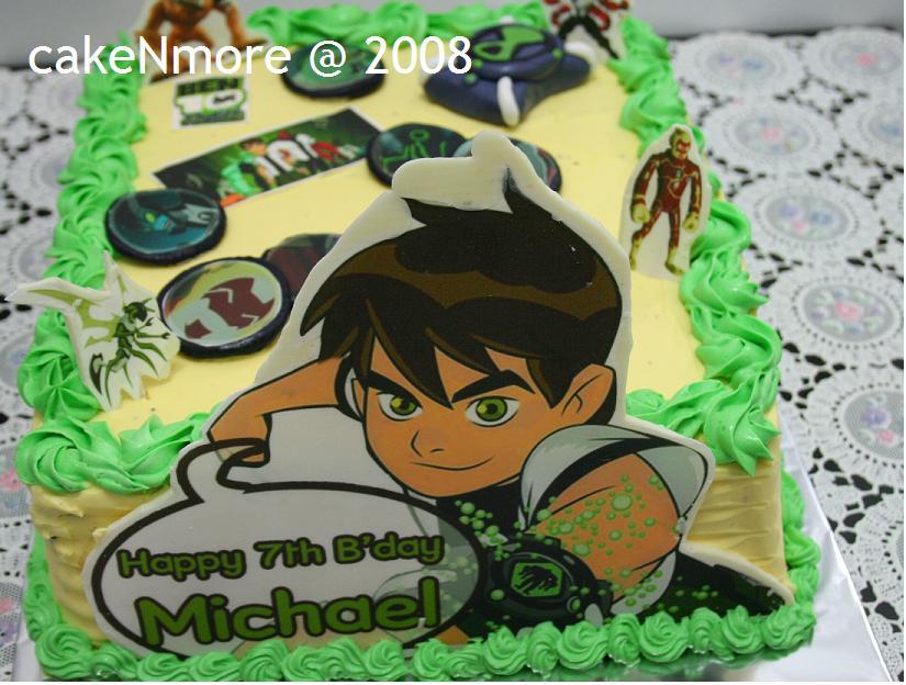 Ben10 Birthday Cake Baking Blues